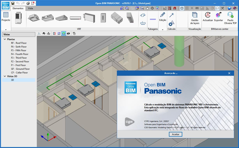 Open BIM PANASONIC. Ferramenta de seleção BIM de sistemas VRF